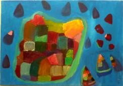 Island of coloured fields
